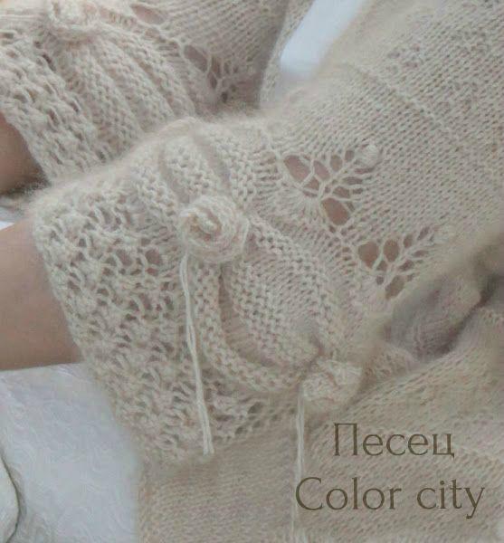 Вязание из пряжи песца